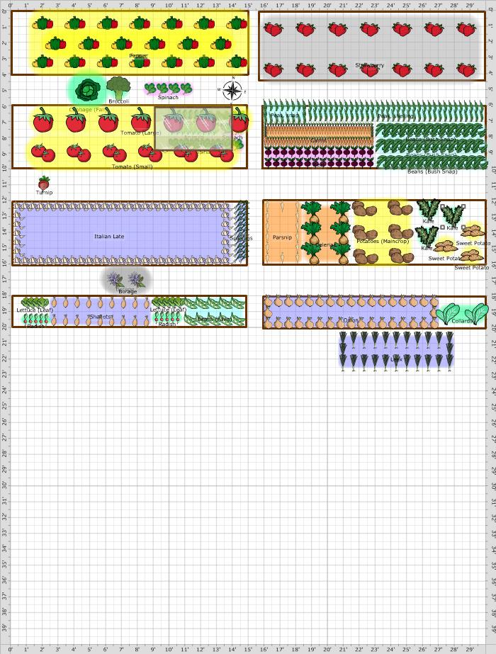Garden Plan - Community Garden Plot #2 (old plot)